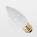 Satco 40B11/W 40W Torpedo White Chandelier Medium Light Bulb (Box of 25)
