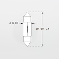 Orbitec S6249 (120718) 26V 40mA 6x24 Festoon Base