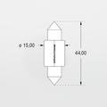 Orbitec S6452 (121836) 6V 15W 15x44 Festoon Base