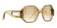 New Authentic Balenciaga Light Brown Sunglasses Frame BAL 0132 03D Angle-1 | Eyewearking.com