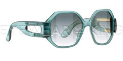 New Authentic Balenciaga Dark Green Sunglasses Frame BAL 0132 02P Angle-1 | Eyewearking.com
