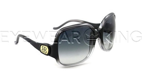 New Authentic Balenciaga Gradient Black on Clear Sunglasses Frame BAL 0008 QFP Angle-1 | Eyewearking.com