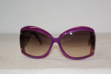 New Authentic Balenciaga Purple Violet Sunglasses Frame BAL 0015 049 Angle-1 | Eyewearking.com