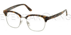 New Authentic Balenciaga Brown Pearl Ruthenium Eyeglasses Frame BAL 0120 V9Z Angle-1 | Eyewearking.com