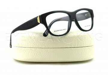 New Authentic Balenciaga Shiny Black Eyeglasses Frame BAL 0075 807 Angle-1 | Eyewearking.com