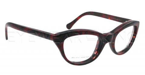New Authentic Balenciaga Red Black Marble Eyeglasses Frame BAL 0115 V9S Angle-1 | Eyewearking.com