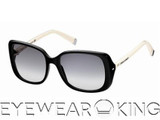 New Authentic DSquared2 Ivory Black Sunglasses Frame DQ 0034 01B Front
