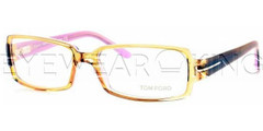 New Authentic Tom Ford Clear Brown Eyeglasses Frame TF 5185 050 Angle-1 | Eyewearking.com