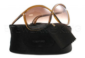 New Authentic Tom Ford Brown Sunglasses Frame TF 201 Charlie 48F Angle-1 | Eyewearking.com