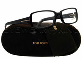 New Authentic Tom Ford Shiny Black Eyeglasses Frame TF 5185 001 Angle-1 | Eyewearking.com