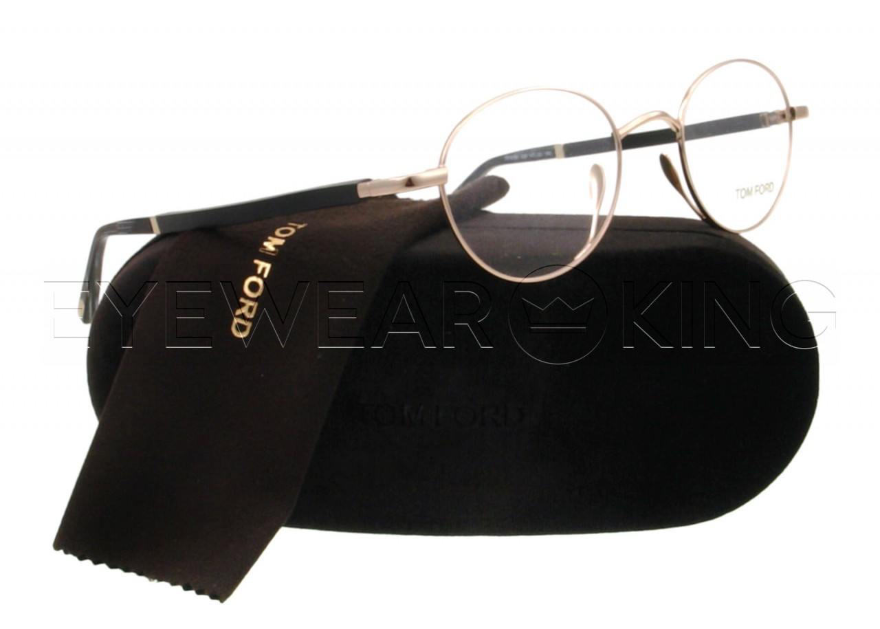 8c9a7cc732963 New Authentic Tom Ford Shiny Gold Eyeglasses Frame TF 5156 028 Angle-1