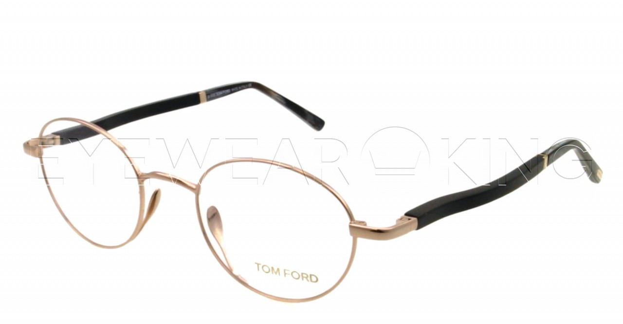 7d6f44d255 New Authentic Tom Ford Shiny Gold Eyeglasses Frame TF 5156 028 Angle-1