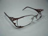 New Authentic Roberto Cavalli Silver Burgundy Eyeglasses Frame RC 0477 020 Angle-1 | Eyewearking.com
