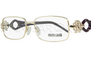 New Authentic Roberto Cavalli Shiny Gold Eyeglasses Frame RC 0550 028 Angle-1 | Eyewearking.com