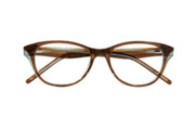 Ellen Tracy Eyeglasses Wellington- Brown Olive 52mm