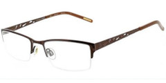 Ellen Tracy Eyeglasses Beijing - Brown 51mm