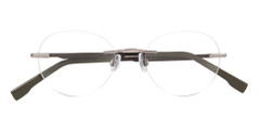 IZOD Eyeglasses Model 428 Rimless Gunmetal