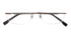IZOD Eyeglasses Model 428 Rimless Brown