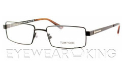 New Authentic Tom Ford FT 5166 (001) Black Metal Eyeglasses