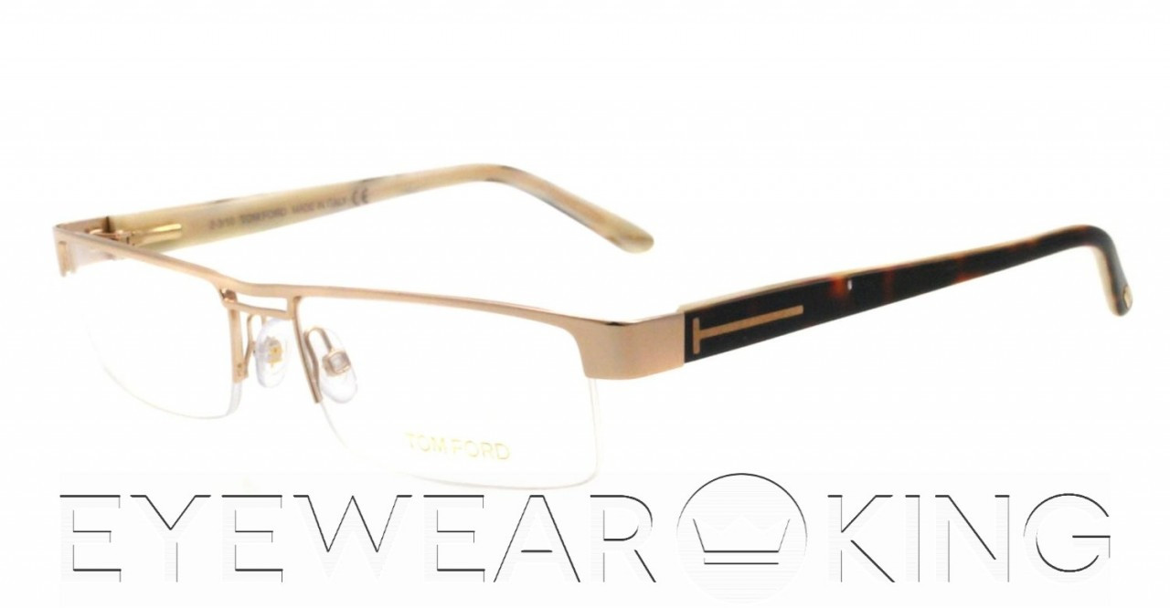 262cb85ff3 New Authentic Tom Ford FT 5112 (028) Shiny Gold Metal Eyeglass Frame