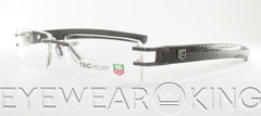 New Authentic Rimless Gunmetal and Python Skin Eyeglasses Frame Tag Heuer TH 0112 L-Type 015 Angle-2 | Eyewearking.com
