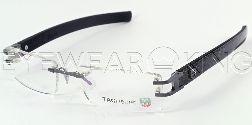 New Authentic Tag Heuer TH 0112 015 Python Eyeglass Frame | Eyewearking