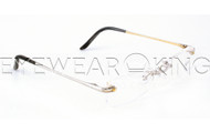 New Authentic Rimless Silver Gold Eyeglasses Frame FRED Lunettes Coraile 001 F2 Angle-1 | Eyewearking.com