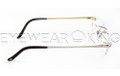 New Authentic Rimless Silver Gold Eyeglasses Frame FRED Lunettes Coraile 001 F2 Angle-3 | Eyewearking.com