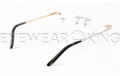 New Authentic Rimless Silver Gold Eyeglasses Frame FRED Lunettes Coraile 001 F2 Angle-4 | Eyewearking.com