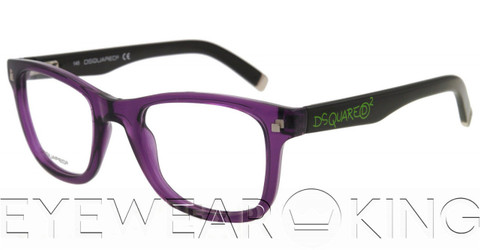 New Authentic Purple & Black Eyeglasses Frame DSquared2 DQ 5005 081 Angle-1 | Eyewearking.com