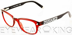 New Authentic Red & Black Eyeglasses Frame DSquared2 DQ 5006 066 Angle-1 | Eyewearking.com