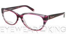 New Authentic Striped Purple Eyeglasses Frame DSquared2 DQ 5007 071 Angle-1 | Eyewearking.com
