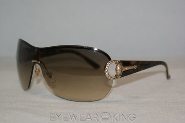 New Authentic Gold Havana Crystal Encrusted Sunglasses Frame Gucci GG 2875 N/S IP3-YY Angle-1 | Eyewearking.com