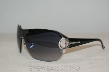 New Authentic Palladium Black Crystal Encrusted Sunglasses Frame Gucci GG 2875 N/S RZS-JJ Angle-1 | Eyewearking.com