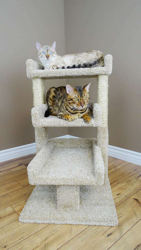Premier Triple Cat Perch in Beige