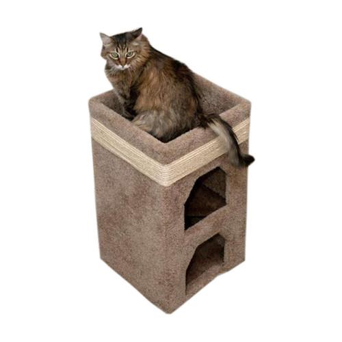 Premier Double Cat Tower-Brown
