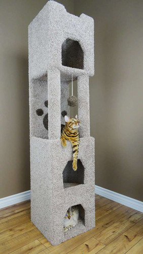 New Cat Condos Premier 6-foot Cat Tower