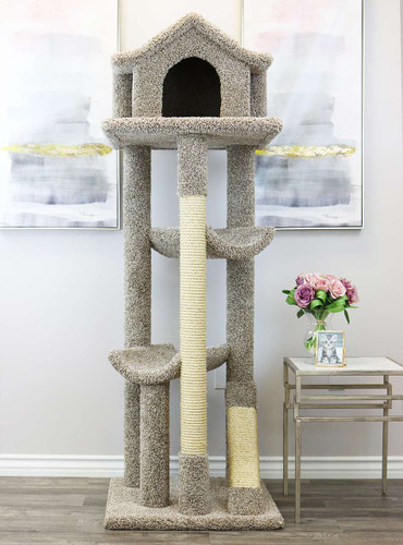 Prestige Cat Trees Solid Wood Large Cat Pagoda House
