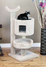Premier Cat Bungalow Cat Tree in Beige