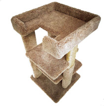 New Cat Condos 3 level 33 inch Cat Tree-Brown