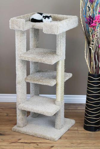 New Cat Condos 4 level 46 inch Cat Tree-Beige