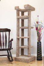 New Cat Condos 5 level 70 inch Cat Tree-Brown