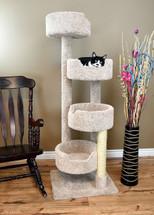 """New Cat Condos 65"""" Cat Tree in beige"""