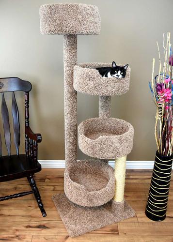 New Cat Condos Stairway Cat Tree in brown