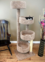 New Cat Condos Stairway Cat Tree in brown