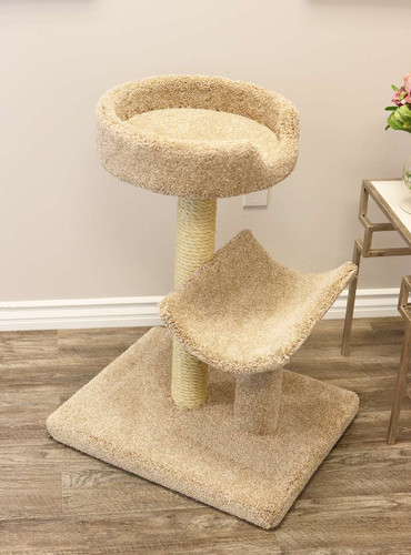 Prestige Cat Trees Kitty Condo in brown