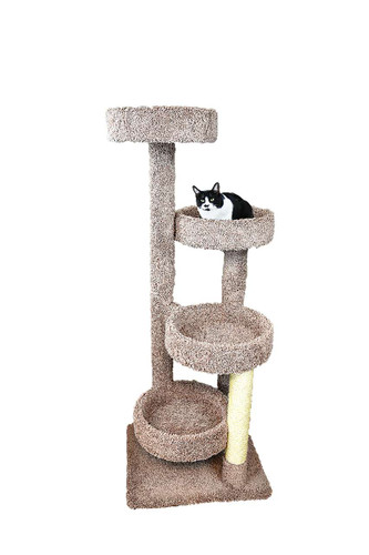 New Cat Condos Solid Wood Large Cat Tree Playground  in Brown