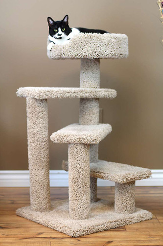 New Cat Condos Spiral Cat Tree-Beige