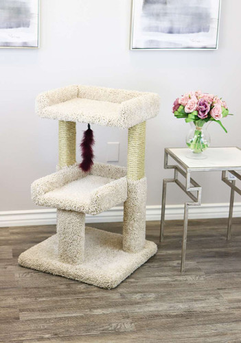 Prestige Cat Trees Spacious Cat Perch -Beige