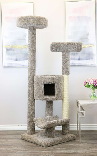 Prestige Cat Trees Purrfect Cat Condo in Neutral color